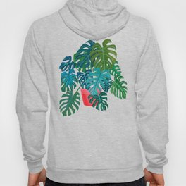 Split Leaf Philodendron Houseplant Painting Hoody