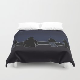 Silhouettes in the Snow Duvet Cover