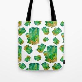 Emerald Birthstone Watercolor Illustration Tote Bag
