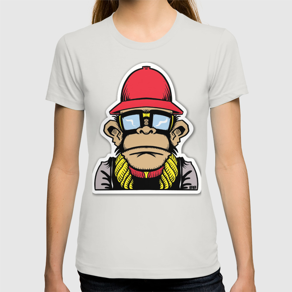 10141813e fun monkey sticker stickers new 2018 design cute funny sunglass swag thug  love T-shirt by abllo | Society6