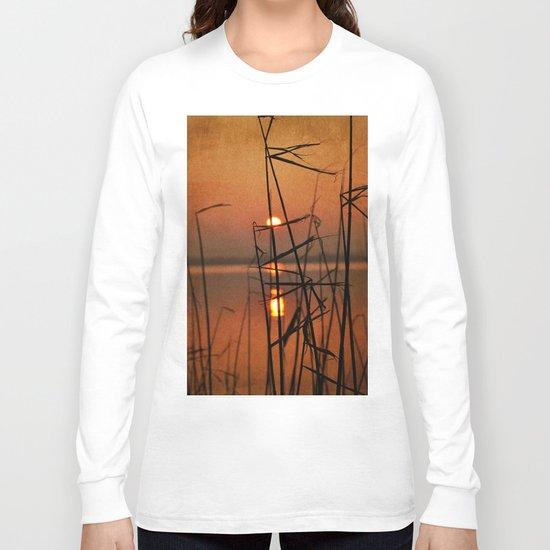 vintage sunset landscape Long Sleeve T-shirt