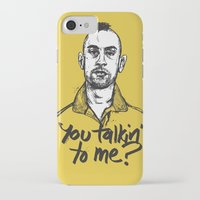 taxi driver iPhone & iPod Cases featuring Taxi Driver by Dave Flanagan