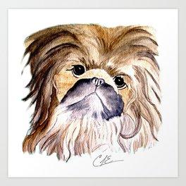 Pekingese love Dogs Art Print