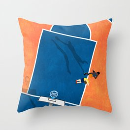 Wake Me Up When Basketball Is Back  Throw Pillow