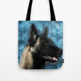 Malinois  Belgian shepherd - Mechelaar Tote Bag