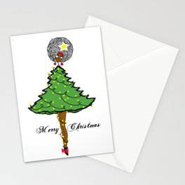 Christmas Tree Earthling Stationery Cards