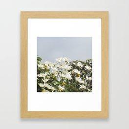Embrace a bouquet of flowers Framed Art Print