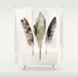 nature feathers Shower Curtain