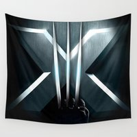 daenerys targaryen Wall Tapestries featuring X-MEN THE MUTAN CLAW by BeautyArtGalery