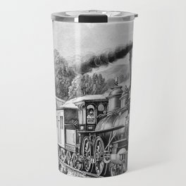 The Express Train: Currier & Ives 1870 Travel Mug
