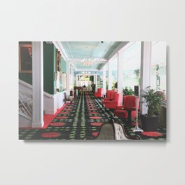 inside the Grand Hotel Metal Print