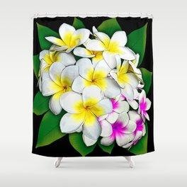 Plumeria Flowers Bouquet Shower Curtain