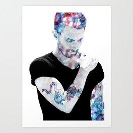 Adam Levine Art Print