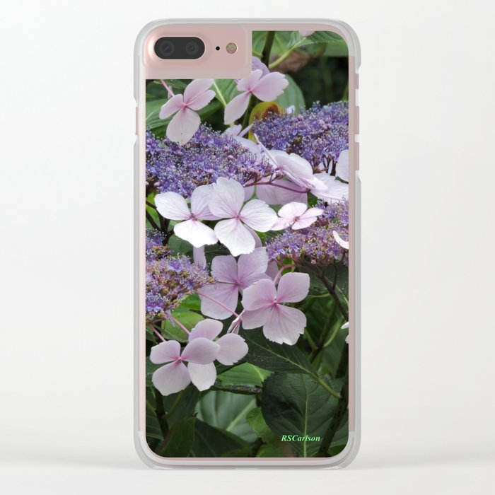 Hydrangea Violet Hues Clear iPhone Case