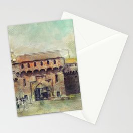 Cracow Barbican art Stationery Cards
