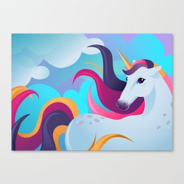 Unicorn Magic Moment Canvas Print