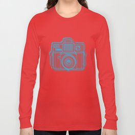 I Still Shoot Film Holga Logo - Blue & Red Long Sleeve T-shirt