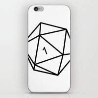 dungeons and dragons iPhone & iPod Skins featuring Fumble - Dungeons & Dragons for Dummies by oneeye01
