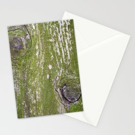 Green lichens on wood Stationery Cards