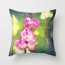Orchid Impressions Throw Pillow