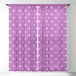 Dotted (White & Purple Pattern) Sheer Curtain