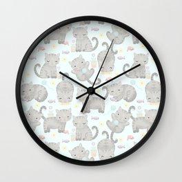 Kitten Cuteness Overload Wall Clock