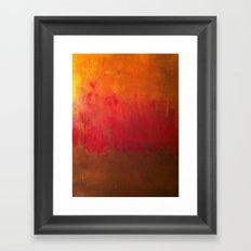 Fire Below Framed Art Print