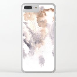 Watercolor Texture Movement | [Grief] Haze Clear iPhone Case