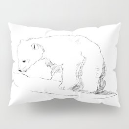 Inquisitive bear Pillow Sham