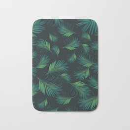 Tropical Night Palms Pattern #1 #tropical #decor #art #society6 Bath Mat