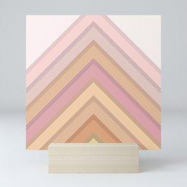 Pastel Peaks Mini Art Print