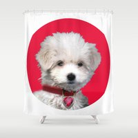 valentine Shower Curtains featuring Valentine by Herzensdinge