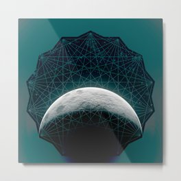 moony Metal Print