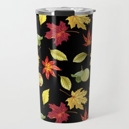 Autumn Falling Leaves Travel Mug
