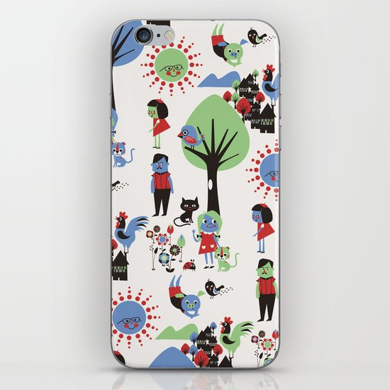Beautiful day pattern iPhone & iPod Skin