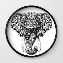 Ornate Elephant Head Wall Clock