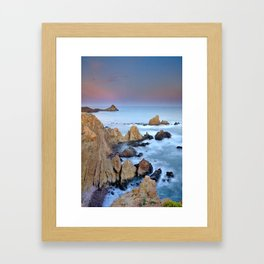 Volcanic planet Framed Art Print
