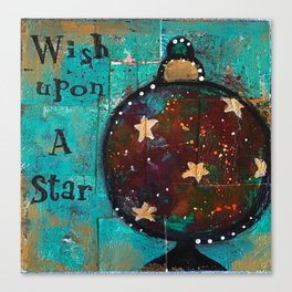"""Wish Upon A Star"" Original Painting by Krista J. Brock Canvas Print"