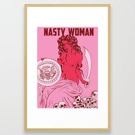 Nasty Woman print, hot pink Framed Art Print