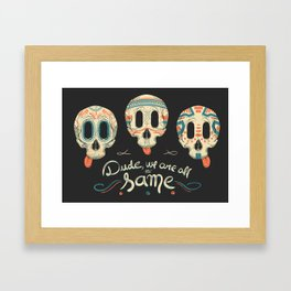 All the same Framed Art Print