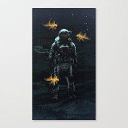 Space goldfish Canvas Print