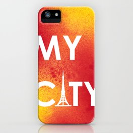 MyCity-Tokyo-RedYellowA iPhone Case
