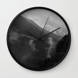 North Cascades B&W 2 Wall Clock