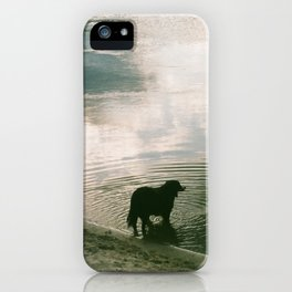 Louie and the water iPhone Case