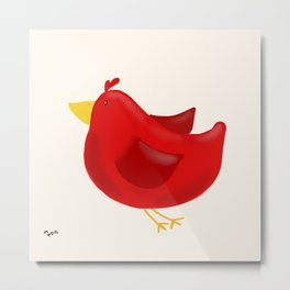 Red Bird of Happiness Metal Print