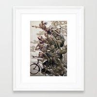 artgerm Framed Art Prints featuring Ten Brothers by Artgerm™