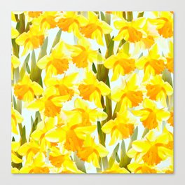 Spring Breeze With Yellow Flowers #decor #society6 #buyart Canvas Print