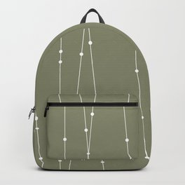 Contemporary Intersecting Vertical Lines in Sage Green Backpack