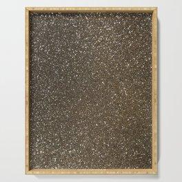 Bronze Gold Burnished Glitter Serving Tray