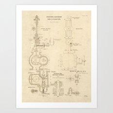 Steampipe Art Print